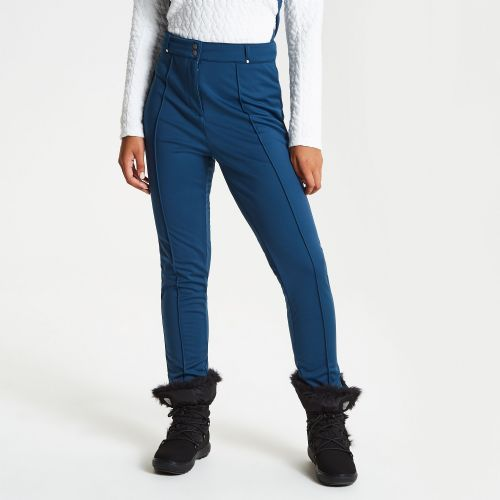 Women's Slender Tapered Fit Luxe Ski Pants Blue Wing